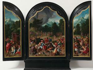 RIJKS: Lucas van Leyden: Worship of the Golden Calf 1530