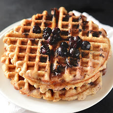 Lemon Blueberry Waffles {Vegan + Gluten Free}