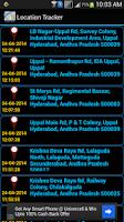 Screenshot of Mobile Location Tracker
