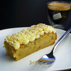 Coffee, Banana And White Chocolate Cake Slices