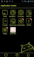 Screenshot of GOSMS SulphurYellow Theme-Free