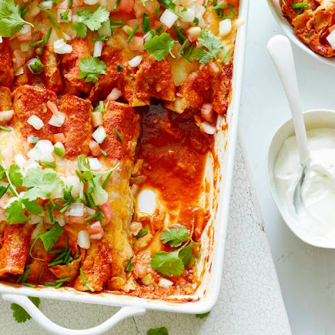 Poblano Chicken Enchiladas