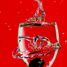 Red grape  by Anthony Doyle - Abstract Water Drops & Splashes