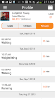 Screenshot of Nexercise = fun weight loss