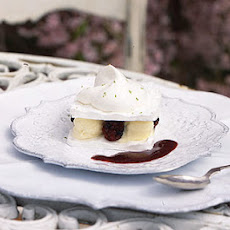 Meringue Napoleons with Lime Ice Cream and Blackberries