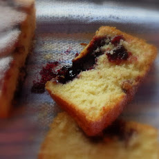 Lemon and Black Currant Swirl Cake