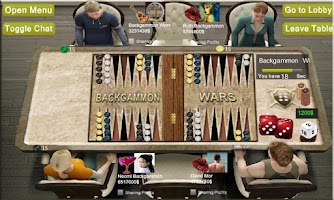 Screenshot of BACKGAMMON WARS GROUP TAVLA