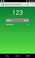 Screenshot of Sicher Rechnen Lernen