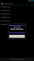 Screenshot of Signature Share