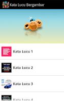 Screenshot of Kata Lucu Bergambar