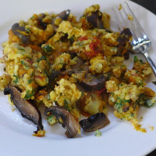 Chickpea Flour And Roasted Vegie Scramble