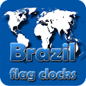 Brazil flag clocks icon