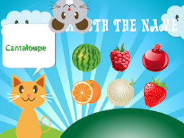Screenshot of QCat-Toddler's game:Fruit Free