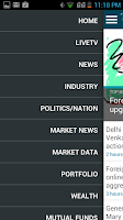 Screenshot of The Economic Times:Market News