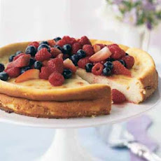 Ricotta Cheesecake with Fresh Berry Topping