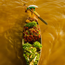 The Fruit Seller by Ahmad Syukaery - Transportation Boats