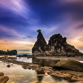 Tanjung Layar by Aditya Permana - Landscapes Beaches ( landscape, beach, color, colors, portrait, object, filter forge, Free, Freedom, Inspire, Inspiring, Inspirational, Emotion )