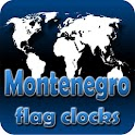 Montenegro flag clocks