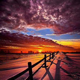 On the Other Side of Somewhere by Phil Koch - Landscapes Prairies, Meadows & Fields ( vertical, photograph, farmland, yellow, leaves, storm, love, sky, nature, autumn, snow, flower, wind, orange, twilight, agriculture, horizon, portrait, fence, dawn, environment, winter, season, national geographic, serene, floral, inspirational, natural light, wisconsin, phil koch, spring, sun, photography, farm, ice, rail, horizons, rain, inspired, office, clouds, green, scenic, morning, wild flowers, field, red, blue, sunset, peace, fall, meadow, summer, sunrise, earth, landscapes, , HDR, Landscapes, Hope, orange. color )