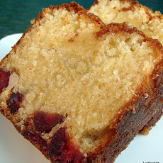 Moist Macadamia & Cherry Bottom Loaf Cake
