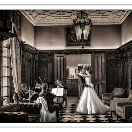 B&G Hazlewood Castle by Pete Bristo MBE  - Wedding Bride & Groom ( ppani )