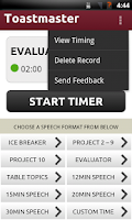 Screenshot of Toastmaster Timer