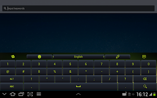 Screenshot of Green Keyboard App Theme