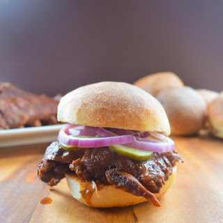 Crock Pot Baby Back Rib Sandwiches in Homemade BBQ Sauce