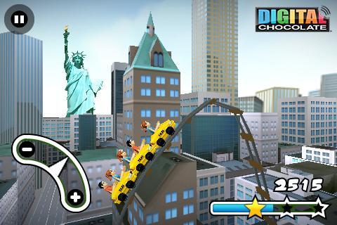 3D Rollercoaster Rush New York - screenshot