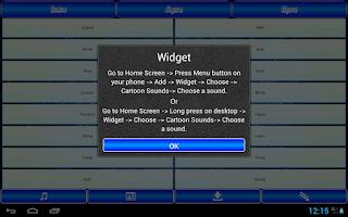 Screenshot of Cartoon Sounds