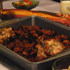 Crown Roast of Pork With Apple, Fig and Cherry Stuffing