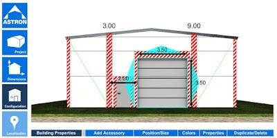 Screenshot of EcoBuild Building Configurator