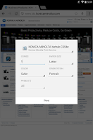 Screenshot of Konica Minolta Print Service