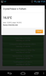 Football weather - screenshot