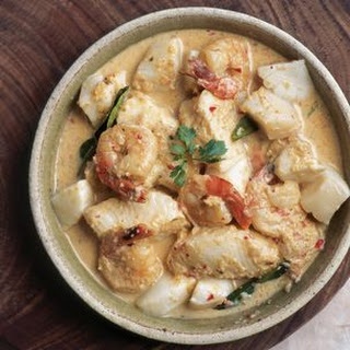 Seafood in Coconut Red Curry