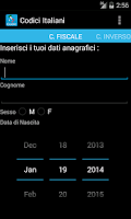 Screenshot of Codici Italiani