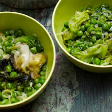 Cook the Book: Fresh Peas with Lettuce and Green Garlic
