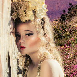 Summer Princess by Beth Schneckenburger - People Fashion ( building, crown, summer, gold )