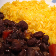 Spicy Black Beans With Yellow Rice