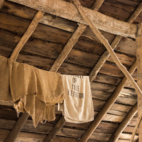 by Jarrod Kudzia - Buildings & Architecture Decaying & Abandoned ( burlap, farm, barn, wood, grain elevator, hay, yale, beams, property of, clothes line,  )