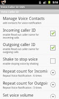 Screenshot of Voice Caller ID + SMS Lite