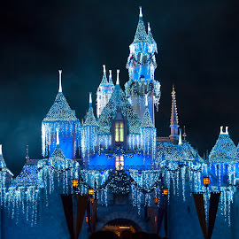 Christmas Castle by Boyd Smith - City,  Street & Park  Amusement Parks ( fantasy land, christmas, disneyland, castle,  )