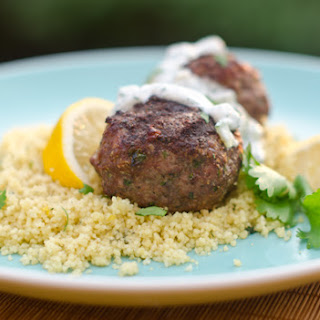 Grilled Moroccan Meatballs with Yogurt Sauce