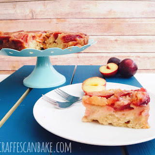 Plum and Ginger Upside Down Cake