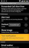 Screenshot of Forwarded Call Alert Free ROOT
