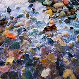 Winter Deadlock by Daloma Poe - Nature Up Close Rock & Stone ( bright rocks, winter, ice, frozen, rocks )