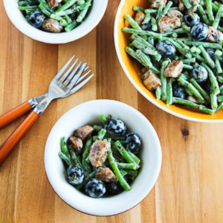 Green Bean Summer Salad with Italian Sausage, Olives, and Basil Vinaigrette