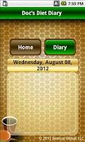 Screenshot of Doc's Diet Diary