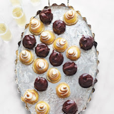Poppy-Seed Cookies with Meyer Lemon Curd and Swiss Meringue