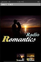 Screenshot of Romantics Radio
